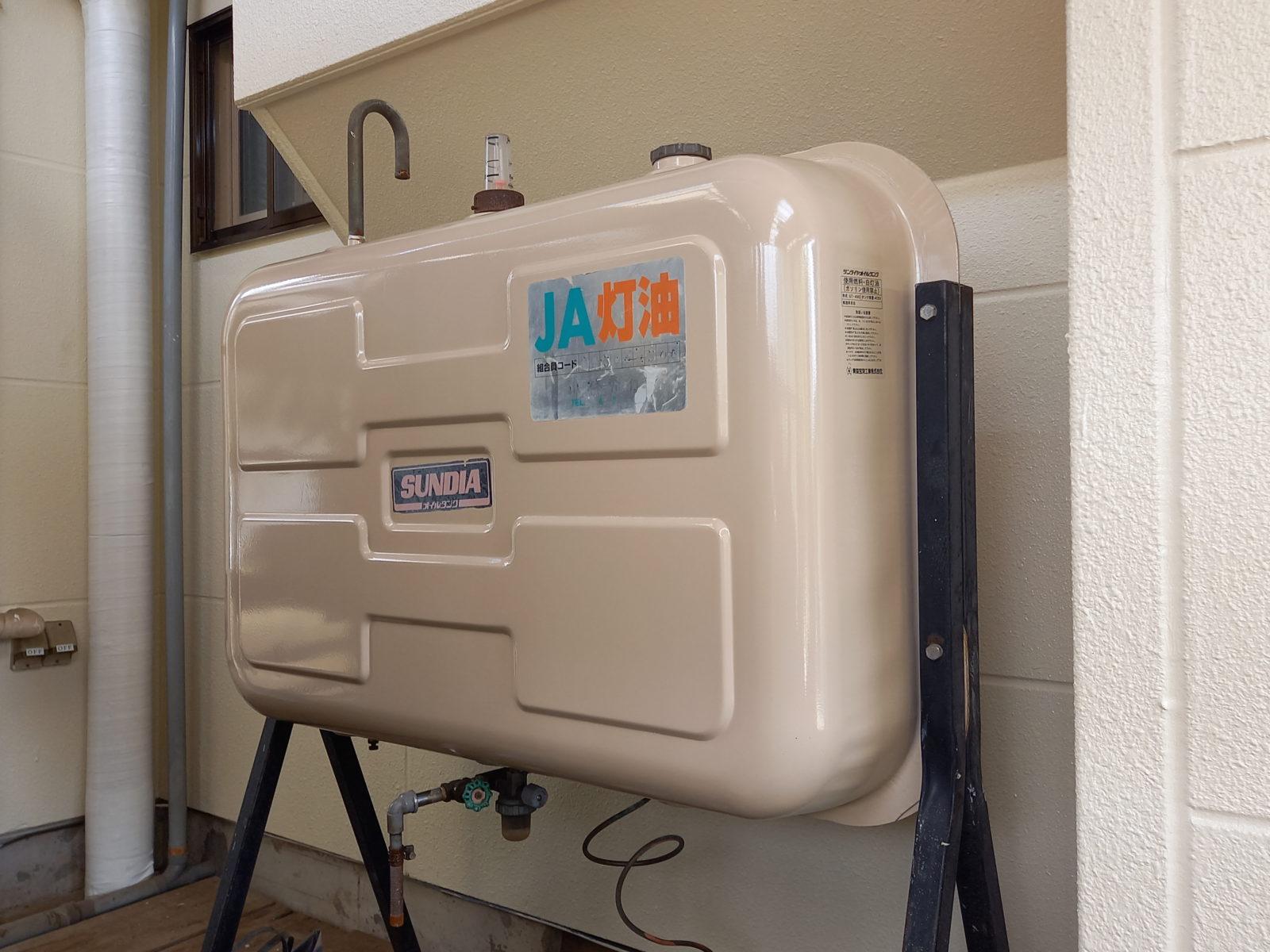 オイルタンク塗装:サービスにて対応
